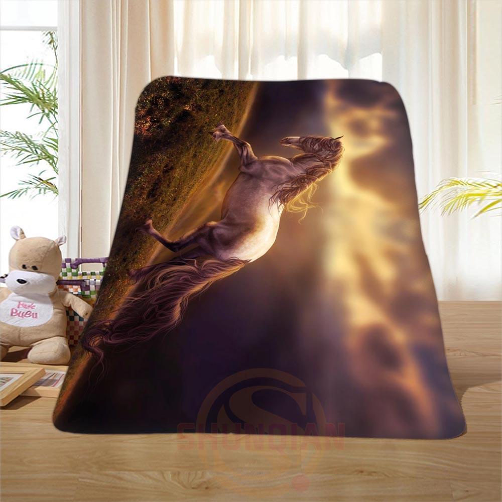 P 139 Custom font b Horse b font 48 Home Decoration Bedroom Supplies Soft Blanket size