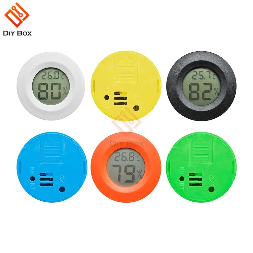Mini LCD Digital Thermometer Hygrometer Fridge Freezer Tester Temperature Humidity Meter Detector Thermograph for Pet Auto Car