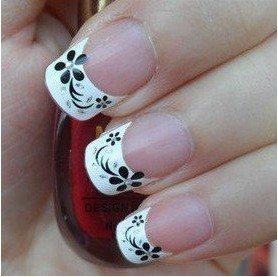 Freeshipping- Elegant 3D French Sticker Nail Art Decals Decoration 48 models available Wholesale SKU:B0029XX