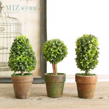 Zim Maison 1 Set 3 Botton Mini Plante Artificielle Décor Décoratif Plante En Pot Pour Salon Home Office En Gros Et Au Détail