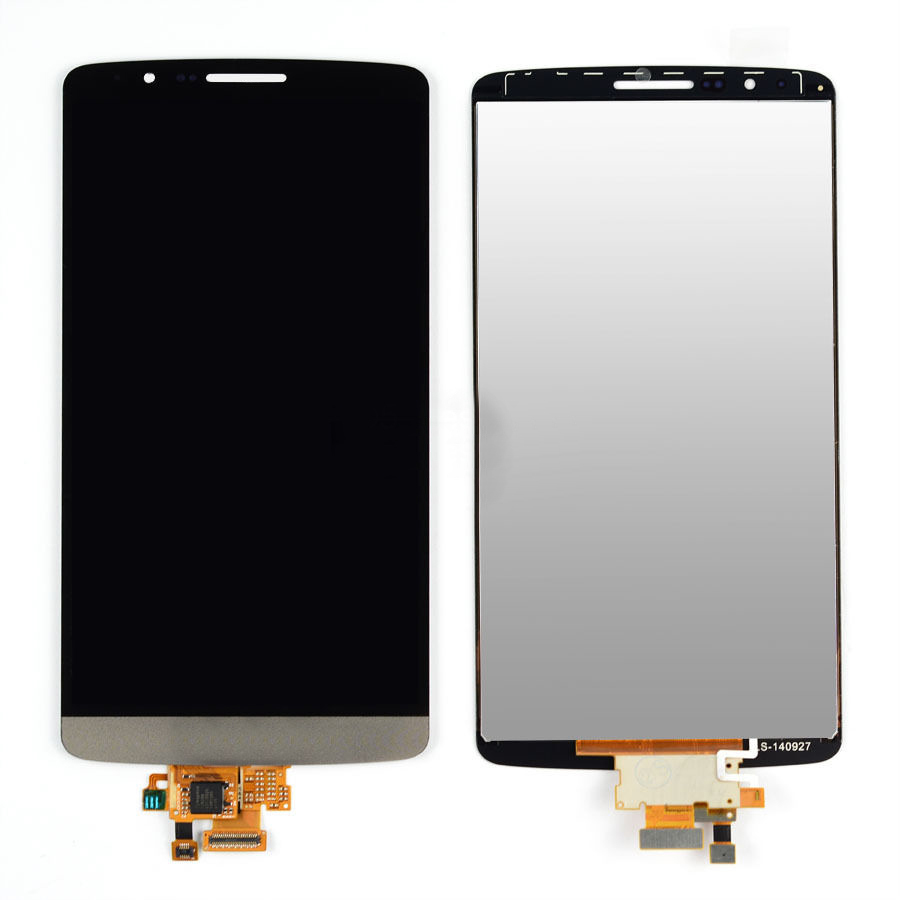 Grey LCD Display + Touch Screen Digitizer Assembly Replacement For LG G3 D850 D851 D855 VS985 Free Shipping original lcd for lg g3 d850 d855 lcd display screen digitizer touch glass pantalla with frame bezel assembly replacement