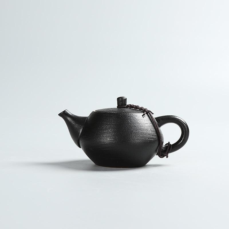 Kreative schwarze Keramik Teekannen handgemachte Vintage Keramik - Küche, Essen und Bar - Foto 3