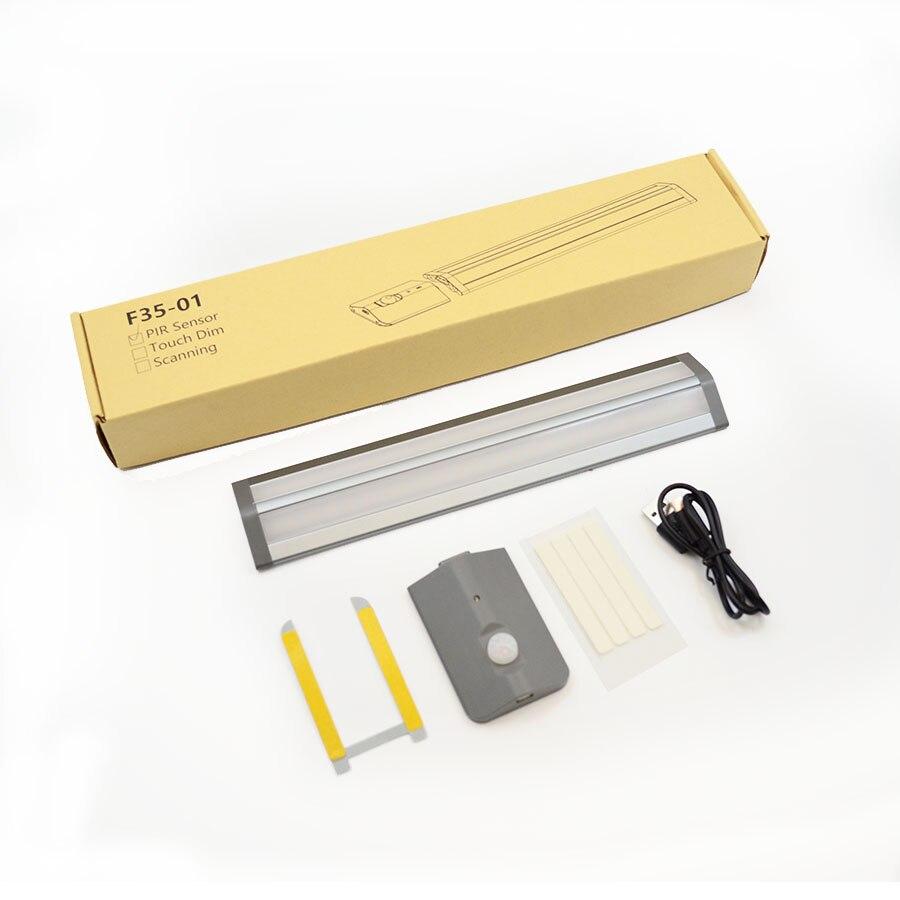 PIR Motion Sensor LED Night Light USB Charging Removeable Battery LED Sensor Light Cabinet Light for Wardrobe Kitchen Corridor