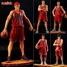 цены 2019 New Pvc Shohoku Slamdunk Anime Figure Miyagi Akagi Rukawa Sakuragi Mitsui Slam Dunk Figure Model Toy Basketball Figurine