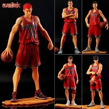 цена на 2019 New Pvc Shohoku Slamdunk Anime Figure Miyagi Akagi Rukawa Sakuragi Mitsui Slam Dunk Figure Model Toy Basketball Figurine