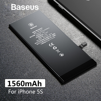 Baseus For iPhone 5S Original Battery 1560mAh High Capacity Replacement Batteries For iPhone 5S with Free Repair Tools