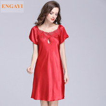 SQ022  S-4XL New Sexy Robes Bathrobe For Women Silk Satin Nightgown Nightwear High-grade Night Dress Nightdress Night Gown