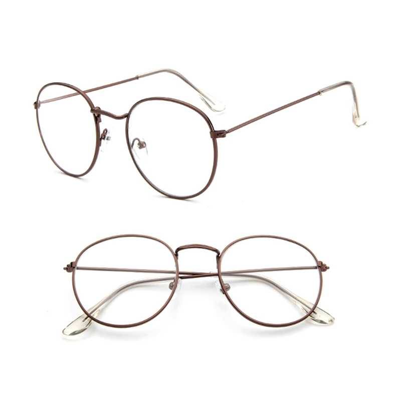 52d9859338f Men Women Vintage Eyeglass Metal Frame Glasses Round Spectacles Clear Lens  Optical New Fashion Unisex Eyeglasses