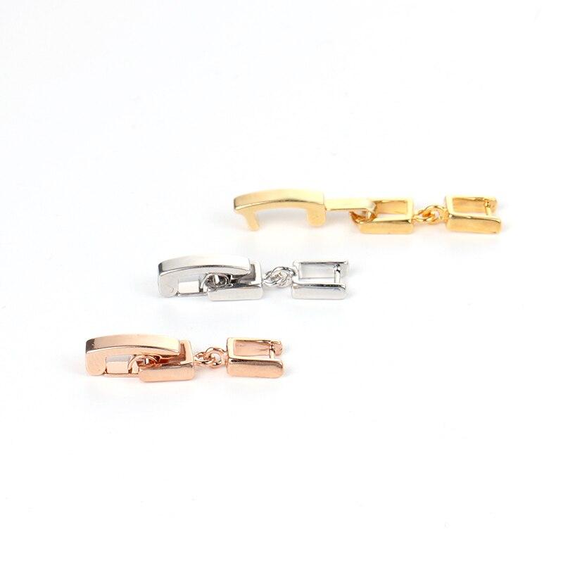 WEIMANJINGDIAN Белое золото/желтое золото/розовое золото цвет покрытый браслет или ожерелье удлинители/удлинители пряжки