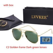 88d4d0d8119043 LVVKEE hommes lunettes de soleil polarisées uv400 haute qualité femmes  Conduite Lentille De Couleur 3026 métal cadre boîte De Sé..