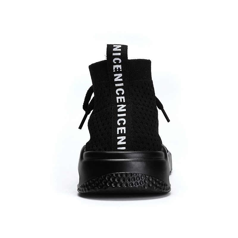 Мужская повседневная обувь; мужские кроссовки; летние дышащие кроссовки на плоской подошве; chaussure homme; мужская обувь на шнуровке; Flyknit Zapatos De Hombre