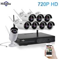 Hiseeu CCTV System 720P 8CH HD Wireless Kit Night Vision IP Camera WiFi CCTV Camera Kit