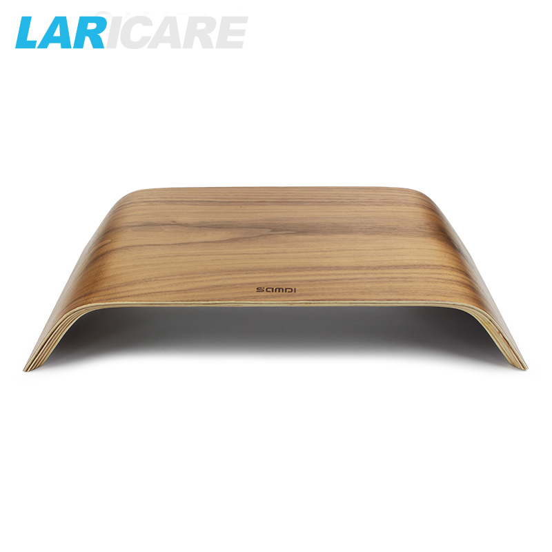 LARICARE space wooden stand for iMac or ohther Ultra-thin computer with birch and walnut minitor mounts L-04 image