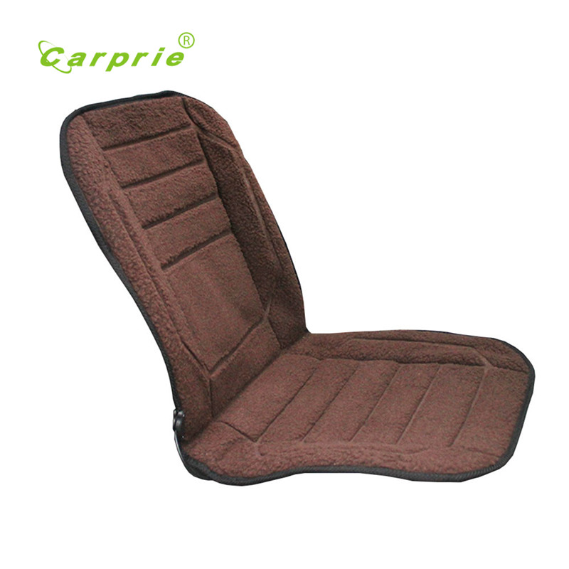 Seat Brown Car Heated Seat Cushion Cover Auto 12V Heating Heater Warmer Pad Winter New Safety