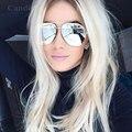 Brillante espejo de marco de metal gafas de aviación de lujo diseñador de la marca 2016 new hombres o mujeres shades gafas de sol hombre mujer