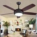 42/48/52 дюймов, винтажный светодиодный потолочный вентилятор с 5 лопастями, промышленные деревянные потолочные вентиляторы, светильник, декор...