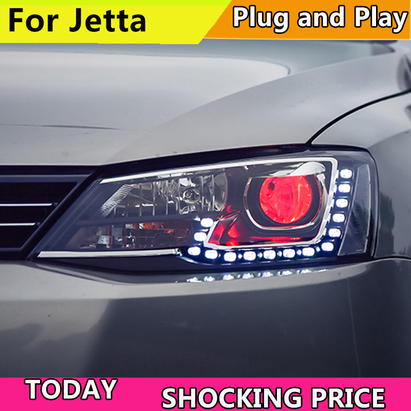Car Styling for VW Jetta MK6 Headlights 2011 2015 Volkswagen LED Headlight DRL Bi Xenon Lens High Low Beam Parking Fog Lamp