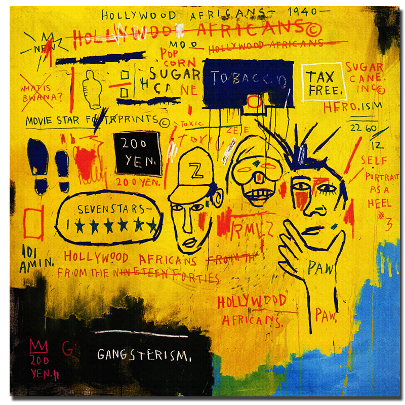 Contemporary Graffiti Art Painting by Jean Michel Basquiat Canvas ...