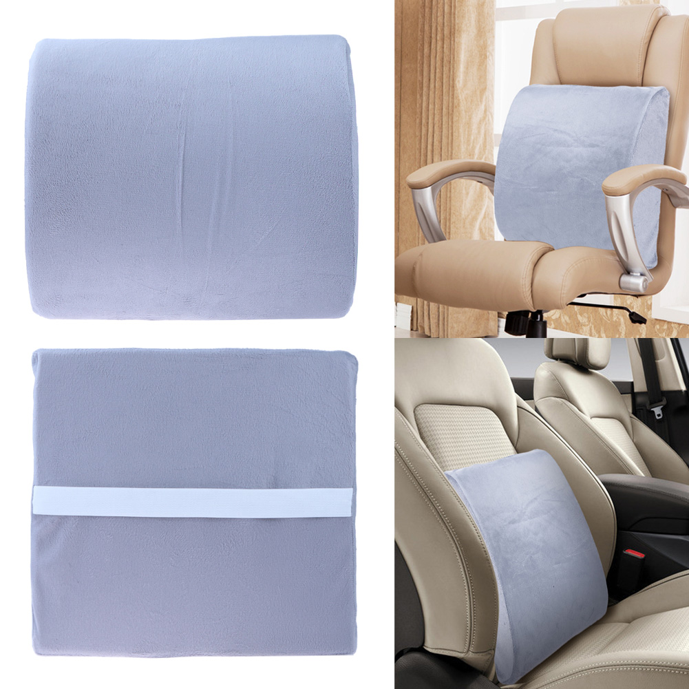 Car styling high resilience memory foam lumbar back support cushion pillow lumbar support for