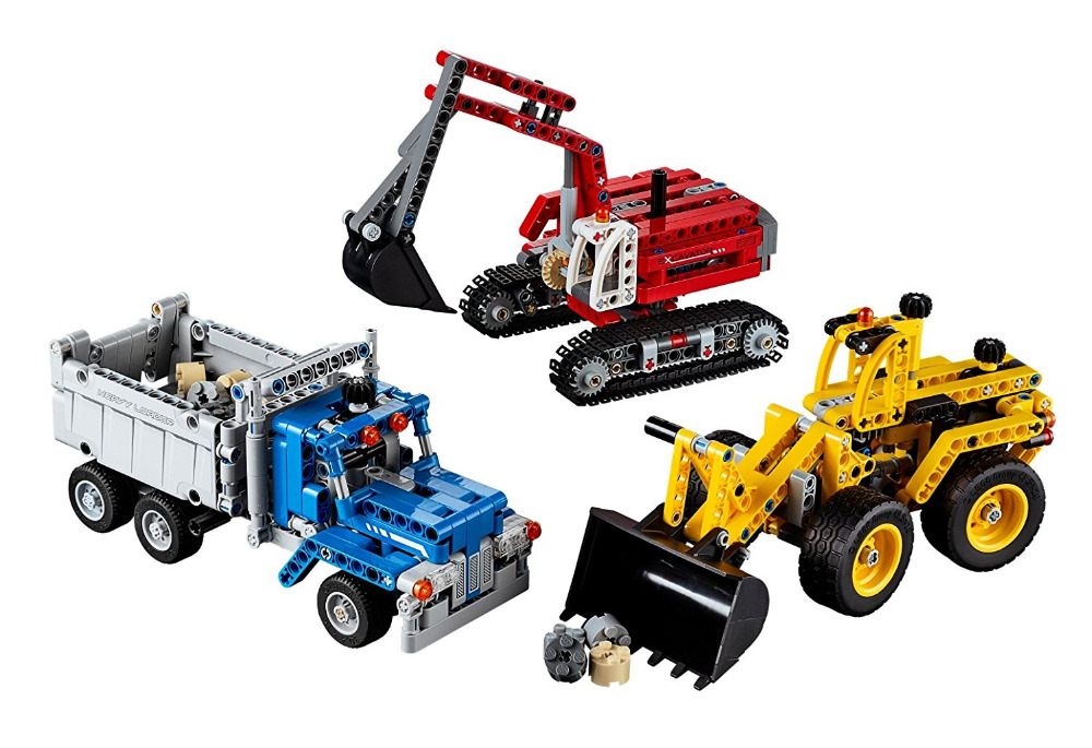 Decool Technic City Series Construction Crew Building Blocks Bricks Model Kids Toys Marvel Compatible Legoe decool technic city series excavator building blocks bricks model kids toys marvel compatible legoe