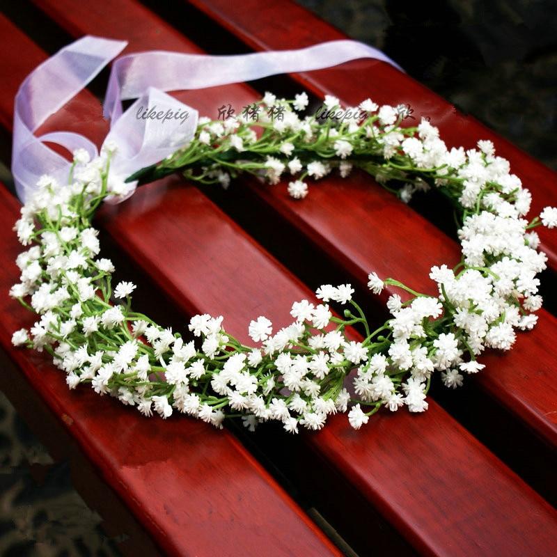 White Babysbreath Simulation Flower Bouquet Artificial Flowers Silk Flower Decorative Flowers Wreaths Wedding Bride Headdress
