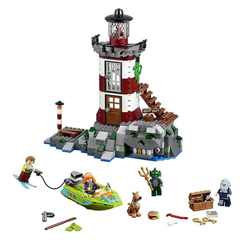 10431 437pcs Scooby Doo Haunted lighthouse Model Building Blocks Bricks Toys Compatible with Legoings ScoobyDoo 75903 bela scooby doo haunted lighthouse building block model kits scooby doo marvel toys compatible legoe