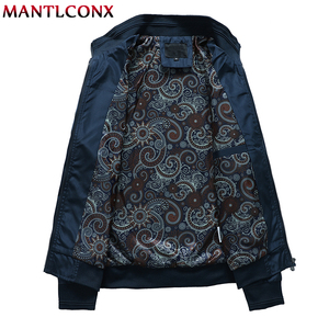Image 4 - MANTLCONX 2020 New Spring Casual Brand Mens Jackets and Coats Stand Collar Zipper Male Outerwear Men Jacket Black Mens Clothing