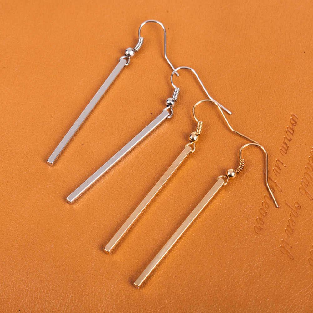 14d4695e4 ... Long Straight Strip Gold Silver Plated Dangle Earrings Women Tassel  Earring Vintage Accessories Fashion Ear Jewelry