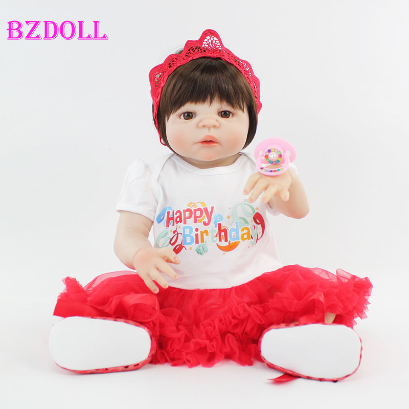55cm Full Silicone Reborn Baby Doll Toy For Girls Lifelike 22 Vinyl Newborn Princess Babies Bonecas Bebe Alive Kids Bathe Toy55cm Full Silicone Reborn Baby Doll Toy For Girls Lifelike 22 Vinyl Newborn Princess Babies Bonecas Bebe Alive Kids Bathe Toy