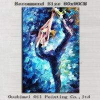 Umiejętności Artysta Ręcznie malowane Wysokiej Jakości Nowoczesne Malarstwo Dekoracyjne Streszczenie Dancer Płótno Malarstwo Ścienne Dla Pokoju Gościnnego