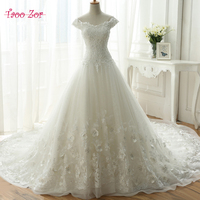 TaooZor New Design A Line Lace Wedding Dresses 2018 Sexy Vintage Crystals Embroidery Lace Wedding Gowns China Online Shop