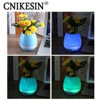 Wireless Speaker Mini Bluetooth Music Flowerpot K3 Smart Speaker Play The Piano Night Light Touch Sensor