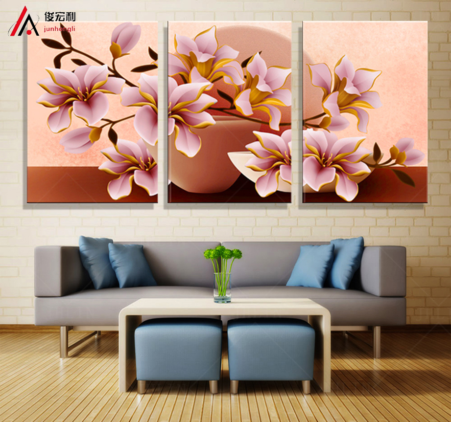 frame orchid wall painting flower canvas painting home decoration wall