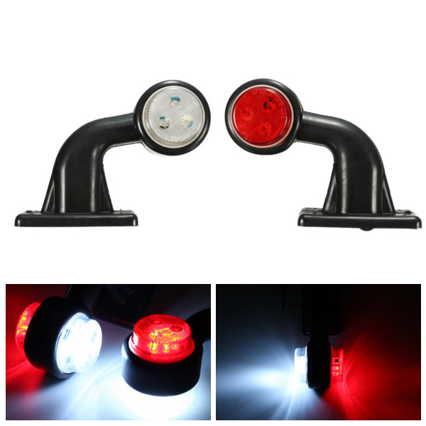 2X 10-30V 5W Car LED Truck Trailer Lorry Van Side Marker Lamp Indicator Light Lamp Red White Colors Available 58cm x 58cm 2 x australian shepherd dog graphic one for each side car sticker for truck window door side vinyl decal 8 colors