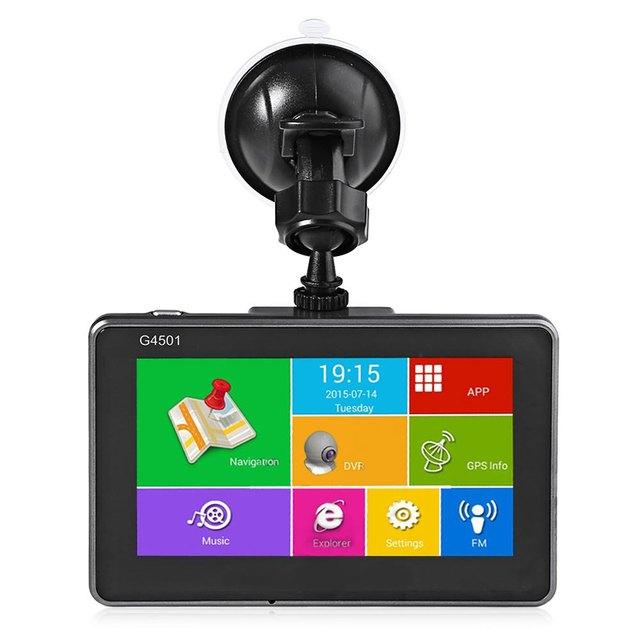 4.5 de Polegada Carro DVR de Navegação GPS Tablet Android Bluetooth Wi-fi FM Jogador Quad Core HD 1080 P IPS Tela Carro G4501 DVR