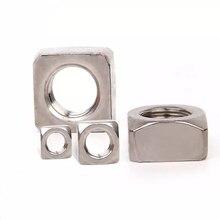 100PCSM3 M4 M5 M6 DIN557 GB39 304 stainless steel square nut fastener