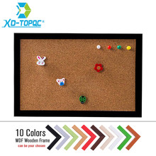 XINDI New MDF Frame Pin Board Cork 20*30cm Bulletin Cork Board 5 Colors Message Boards For Home Free Shipping(China)