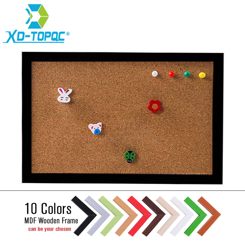XINDI New MDF Frame Pin Board Cork 20*30cm Bulletin Cork Board 5 Colors Message Boards F ...