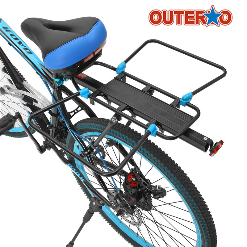 New Quick Release Bicycle Luggage Cargo Rear Rack Aluminum Alloy Carrier Holder Set Bike Accessories for MTB Mountain Road Bike wheel up bicycle rear seat trunk bag full waterproof big capacity 27l mtb road bike rear bag tail seat panniers cycling touring