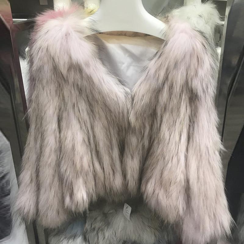 blue Pink Épais Manteaux Pink Vestes White Et Femmes Streetwear dark D'hiver Fourrure Chaud yellow Femelle Moelleux Court Rose Outwear Manteau Zdfurs De light Réel Blanc qRx8Bpww