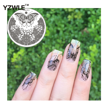 YZWLE Nail DIY Tips Original Design Nail Art Image Printing Plate Polish Stamping Template Cost-effective Butterfly Series image