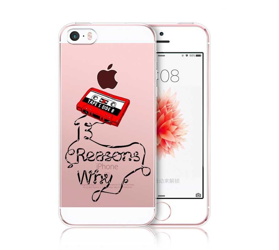 Thirteen <font><b>13</b></font> <font><b>Reasons</b></font> <font><b>Why</b></font> Quotes TPU Phone <font><b>Cases</b></font> Cover for <font><b>iPhone</b></font> 5S SE 6 6S 6Plus 7 7Plus For Samsung S8 Plus For Huawei P8 2017