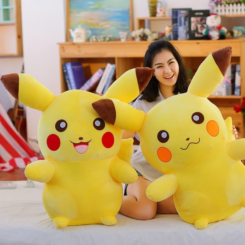 Big Size 90 110cm Pikachu Plush Toy High Quality Cute Animal Plush Toys Children s Gifts