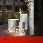 Нордическая Мода отель спальня кабинет вертикальная трубка led затемнения 8 Вт настольная лампа творческая личность Перфорированный Круглы...
