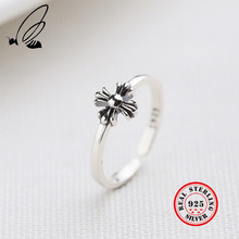 Flower Ring Pure 925 Silver Anillos Jewelry Vintage Party Gift Minimalism Femme Bague Femme Aneis Joyas Punk Rings For Women цена