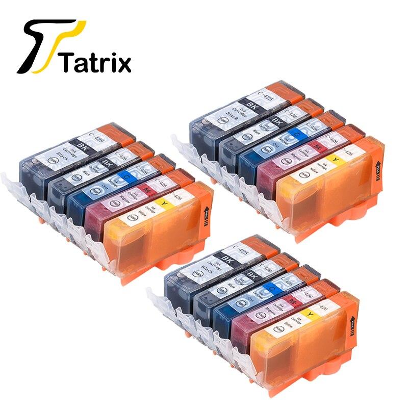 15 stücke für canon 425 426 pgi-425 cli-426 kompatibel tintenpatrone für canon pixma ip4840/ip4940/ix6540/mg5140/5240/5340 drucker