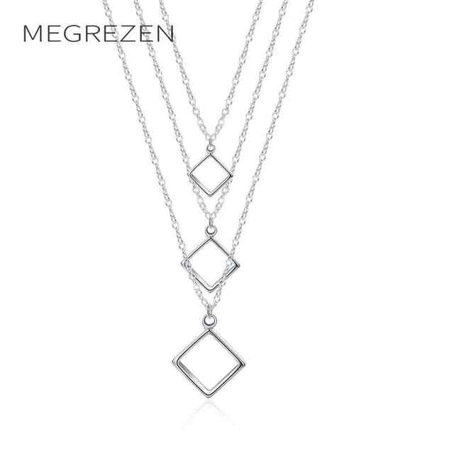 Megrezen silver chains pendant necklace decorations for women men megrezen silver chains pendant necklace decorations for women men sweets necklaces pendants gifts dropshipping jewerly n136 aloadofball Image collections
