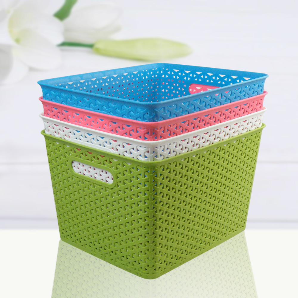 Charmant 3318 Queen Laundry Basket Woven Plastic Shoes And Bags Plastic Storage  Baskets Storage Box Home Essential Housing In Storage Bags From Home U0026  Garden On ...