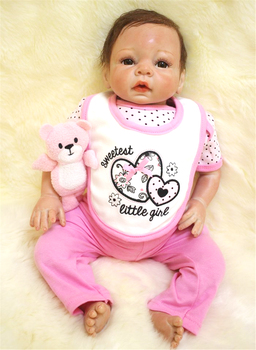 20inch Soft Body Silicone Reborn Baby Doll bebe alive realistic girl Babies Toddler adorable Dolls Lifelike Kids Child Gift