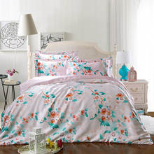 Hot satin silk bedding set bedspread coverlets duvet covers sets twin full queen king size floral spring woven Girls home linens